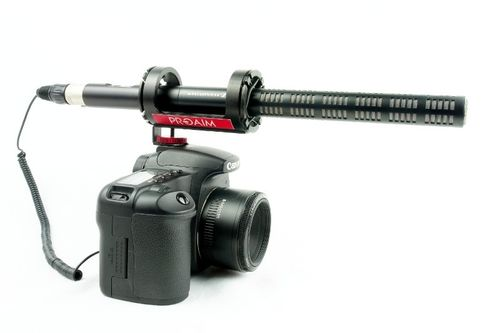 ProAim™ microphone suspension for the hot shoe adapter