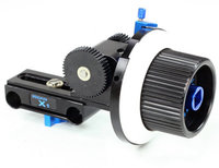 We offer follow focus systems for 15mm light-weight supports. Allows focus device